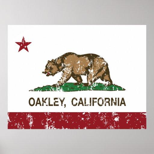 Bandera Oakley del estado de California Póster