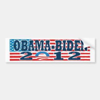 Bandera Obama-Biden 2012 de la pegatina para el pa Etiqueta De Parachoque