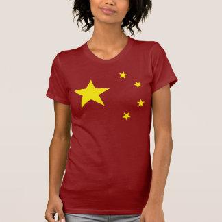 "Bandera ""obra clásica "" de China Camisetas"