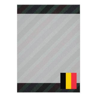 """Bandera oficial de Bélgica en rayas Invitación 5"""" X 7"""""""
