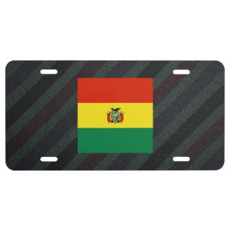 Bandera oficial de Bolivia en rayas Placa De Matrícula