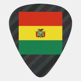 Bandera oficial de Bolivia en rayas Púa De Guitarra