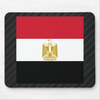 Bandera oficial de Egipto en rayas Tapete De Ratones