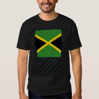 Bandera oficial de Jamaica en rayas Remera