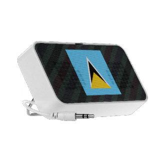 Bandera oficial de la Santa Lucía en rayas iPod Altavoces