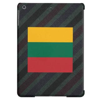 Bandera oficial de Lituania en rayas Funda Para iPad Air