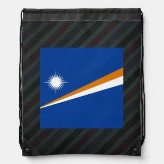 Bandera oficial de Marshall Islands en rayas Mochilas