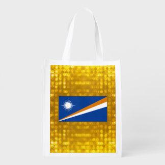Bandera oficial de Marshallese Bolsa Reutilizable