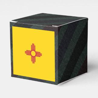 Bandera oficial de New México en rayas Caja Para Regalo De Boda