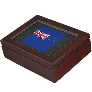 Bandera oficial de Nueva Zelanda en rayas Caja De Recuerdos