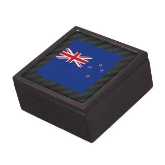 Bandera oficial de Nueva Zelanda en rayas Caja De Joyas De Calidad