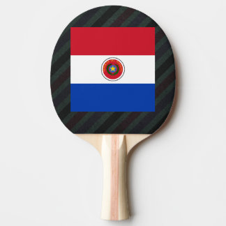 Bandera oficial de Paraguay en rayas Pala De Ping Pong