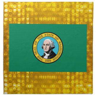 Bandera oficial de Washingtonian Servilleta Imprimida