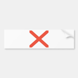 Bandera oficial del estado de Alabama Pegatina Para Auto