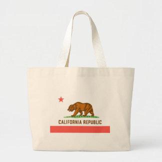 Bandera oficial del estado de California Bolsa Tela Grande