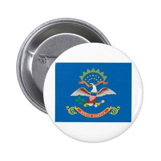 Bandera oficial del estado de Dakota del Norte Pin Redondo De 2 Pulgadas