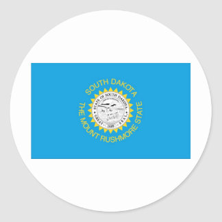 Bandera oficial del estado de Dakota del Sur Pegatina Redonda