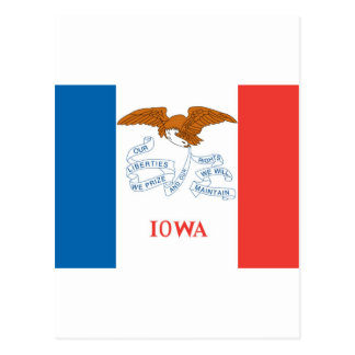 Bandera oficial del estado de Iowa Tarjetas Postales