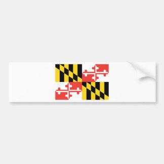 Bandera oficial del estado de Maryland Pegatina Para Auto