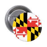 Bandera oficial del estado de Maryland Pin Redondo 5 Cm