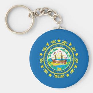 Bandera oficial del estado de New Hampshire Llavero Redondo Tipo Pin
