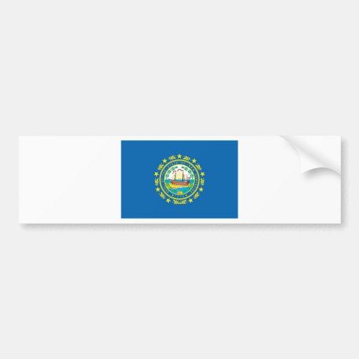 Bandera oficial del estado de New Hampshire Pegatina Para Auto