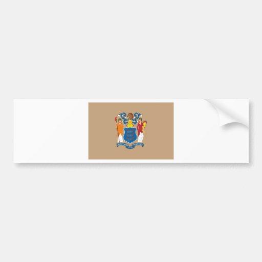 Bandera oficial del estado de New Jersey Etiqueta De Parachoque