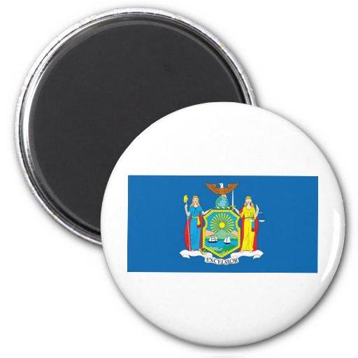 Bandera oficial del estado de Nueva York Imán Redondo 5 Cm