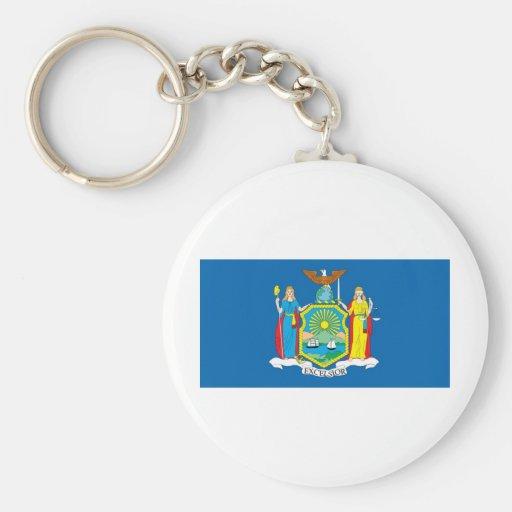 Bandera oficial del estado de Nueva York Llavero Redondo Tipo Pin