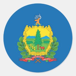 Bandera oficial del estado de Vermont Pegatinas Redondas