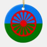 Bandera oficial del gitano del Romany Adorno
