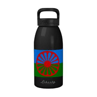 Bandera oficial del gitano del Romany Botellas De Agua Reutilizables