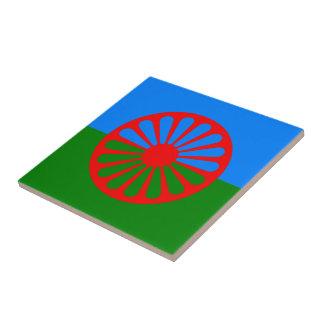 Bandera oficial del gitano del Romany Teja Ceramica