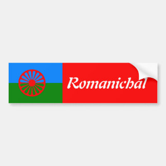 Bandera oficial del gitano del Romany Pegatina Para Auto