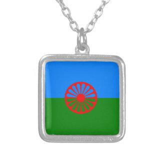Bandera oficial del gitano del Romany Colgante Cuadrado