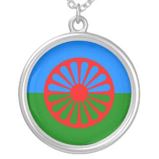 Bandera oficial del gitano del Romany Colgante Redondo