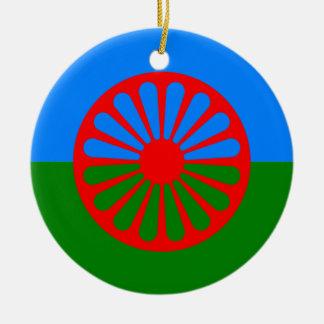 Bandera oficial del gitano del Romany Adorno Redondo De Cerámica