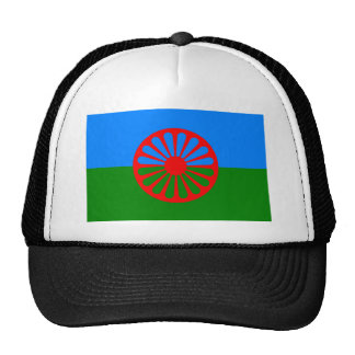 Bandera oficial del gitano del Romany Gorras