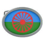 Bandera oficial del gitano del Romany Hebillas De Cinturon Ovales