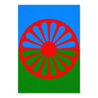"""Bandera oficial del gitano del Romany Invitación 3.5"""" X 5"""""""