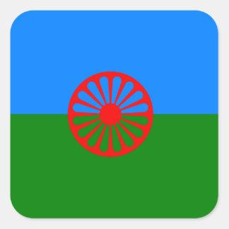 Bandera oficial del gitano del Romany Colcomania Cuadrada