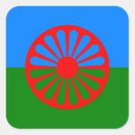 Bandera oficial del gitano del Romany Pegatina Cuadrada