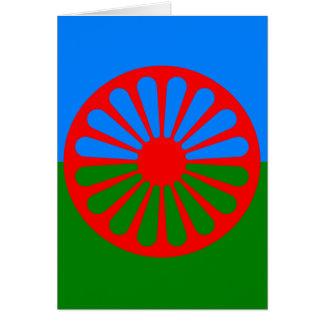 Bandera oficial del gitano del Romany Tarjeta Pequeña