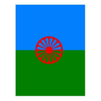Bandera oficial del gitano del Romany Postal