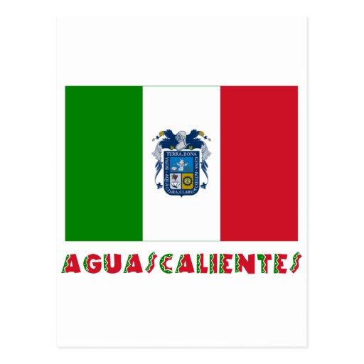 Bandera oficiosa de Aguascalientes Postales