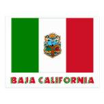 Bandera oficiosa de Baja California Tarjeta Postal