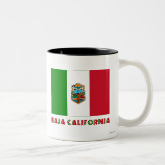 Bandera oficiosa de Baja California Taza Dos Tonos