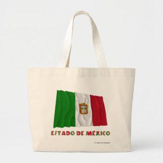 Bandera oficiosa de Estado de México Waving Bolsas Lienzo