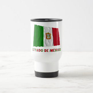 Bandera oficiosa de Estado de México Waving Taza De Viaje De Acero Inoxidable