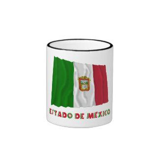 Bandera oficiosa de Estado de México Waving Taza A Dos Colores